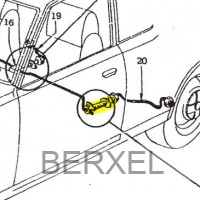 Rear left brake hose