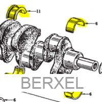 Main Bearings, crankshaft +0.25
