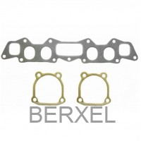 Inlet & Exhaust manifold gasket set. A14 oval..